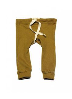 Organic Cotton Leggings / Chartreuse - Mabo - Designers : Fawn Shoppe - Global Boutique For Unique Children's Designs