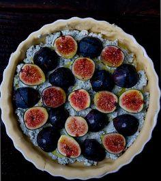 bleu cheese & fig tart. intense