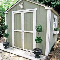 Before: Basic Outdoor Shed  http://www.bhg.com/decorating/makeovers/before-and-after/two-sheds-multiple-storage-solutions/?rb=Y#page=1