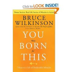 Recommended by Career Expert Michael McClure:  Amazon.com: You Were Born for This: Seven Keys to a Life of Predictable Miracles (9781601421838): Bruce Wilkinson, David Kopp: Books