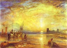 William Turner - Flint Castle (love the light)