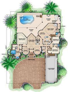 Florida House Plan ID: chp-39609 - COOLhouseplans.com