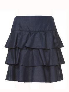 Burda Tiered mini-skirt