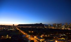 Iconic Diamond Head just before dawn. #gohawaii #Hawaii #oahu