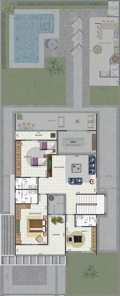 Constru o e kitnet on pinterest 61 pins for Casa moderna de 7 00m x 15 00m