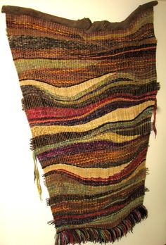 free-form sculptural wall weaving