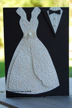 Wedding - tux and gown pearls