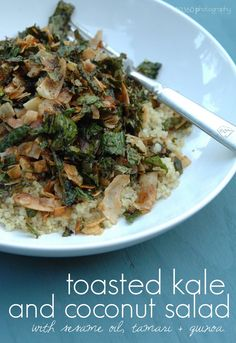 Toasted Kale and Coconut Salad