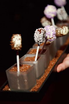 Late night cake pops held in place by chocolate jimmies? Yes, please!