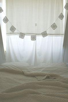 cold attic & warm blanket by wood & wool stool, via Flickr