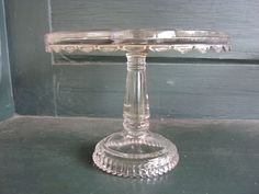 VICTORIAN EAPG PRESSED GLASS CAKE  STAND