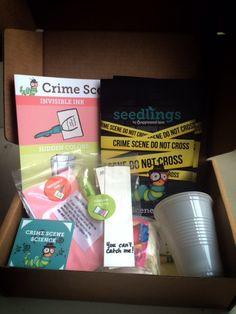 Apple Scene Lane Crime Scene Kit - Cool STEM subscription boxes for kids. Awesome gift!