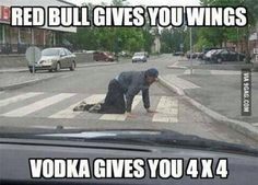 Red Bull gives you wings...