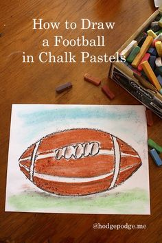 How to Draw a Football with Chalk Pastels