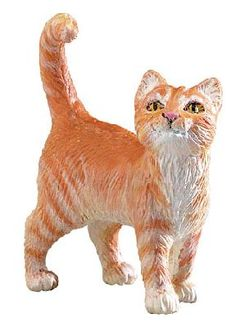 Safari Farm Orange Tabby Cat at theBIGzoo.com, an animal-themed store established in August 2000.
