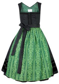 Dirndl black hailey lightgreen - schmittundschäfer - LAWANGO - Dirndl & Lederhosen Online Shop