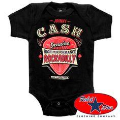 Johnny Cash Kids Onesie Baby Rockabilly Tattoo Cool 50s 60s Punk Retro Country