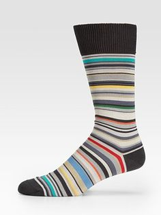 Multi-Stripe Socks by Paul Smith #Socks #Paul_Smith