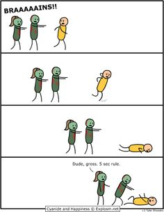 even zombies have been known to follow the 5 Second Rule.