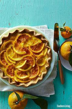 tart, shaker orange pie, orang pie
