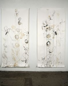 Drawing-Ink-Rickie Wolfe: double shadow paintings