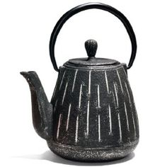 Silver and Black Dignity Cast Iron Teapot