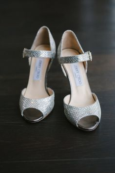 silver Jimmy Choos // photo by Celine Kim // http://ruffledblog.com/elegant-toronto-wedding