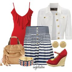 Red, White and Beautiful - Polyvore