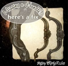 Missing Hardware ~ make a mold from oven bake clay and go from there! She tells you how she did with great pix and an awesome outcome!