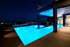 Pritchard Residence by James Deans & Associates #Architects - amazing pool lit up at night