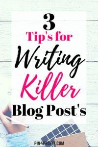 3 tips for writing k