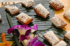 Sharp Cheddar and Horseradish Beignet | Puff 'n Stuff Catering | Orlando Container Store VIP Grand Opening
