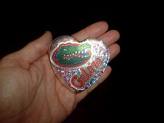 Go Gators Large Resin Heart Cabochon Undrilled by missy69 on Etsy, $19.99