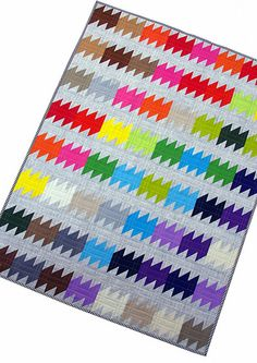 Red Pepper Quilts: The Rainbow Ripple Quilt and Pattern