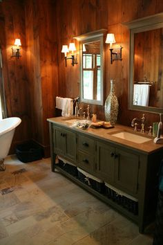 cabin bathroom on Pinterest