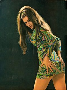 1970s bootie…and amazing dress.