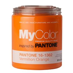 Vermillion orange by Pantone for all you DIY peeps who want to bravely bring more color inside! (I'm dusting off my courage)