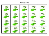 I have this grid game printed and frog counters from Dollar Tree