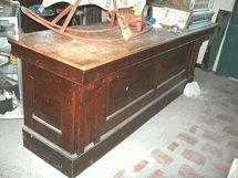 antique oak store counter -