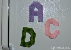 plastic canvas alphabet tarts, plastic canvas, canva alphabet, letters, canva letter, kid craft, sugar, crafts, canvases