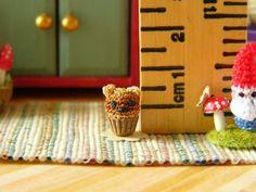 Micro Miniature Chocolate Bear Cupcake