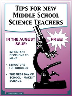 A free newsletter for new middle school science teachers written by a veteran middle school science teacher and instructional coach.