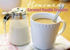 caramel vanilla creamer - and base caramel sauce: 1c.packed br sugar, 1/2c. half & half, 4 T. butter, dash salt- med 5-7 minutes. Add 1 tsp vanilla extract and turn off heat. For creamer: add sauce to 4c. half & half