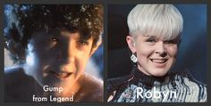 I'm likely the only person on the planet to notice this... however, remember the Legend movie (1985, Tom Cruise)?  That singer Robyn looks just like that man-boy-pixie sidekick of Tom Cruise's!