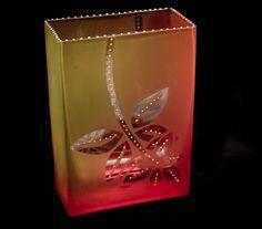 Mary Melinda Wellsandt | 'Brick ' Sunset Line'.  Glass enamel baked on glass