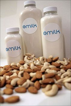 Ommilk can satisfy that nostaligic longing for the days that your parents would remember the days when their parents got milk delivered in glass bottles to their doorstep. Except now it's nutmilk.