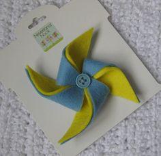 Felt pinwheel hair clip