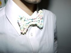 candy bowtie necklac bow, fashion, candi necklac, bow ties, candi bow, candies, bows