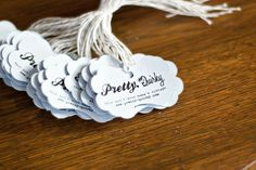 cute print and cut tags