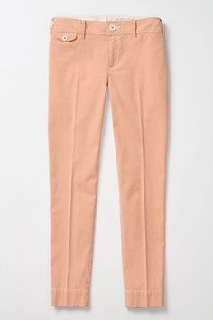 orange seersucker pants  Ridged Cream Crops #anthropologie